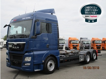 Camion transport containere/ swap body MAN TGX 26.480 6X2-4 LL
