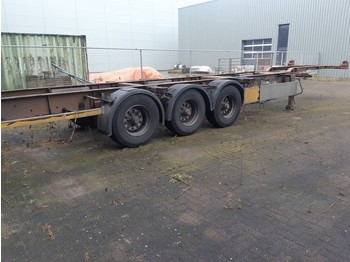Semiremorcă transport containere/ swap body Pacton 3 Axles BPW 2 X 20ft or 40ft